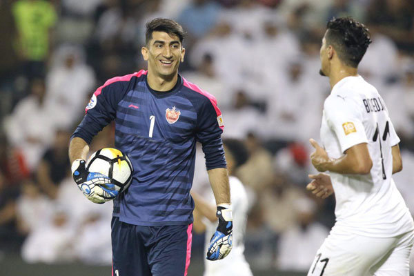 Iran's Beiranvand named as ACL Played of Week