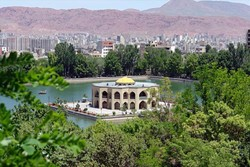 A view of Elgoli Park, a popular tourism destination in Tabriz