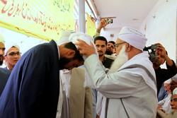 مراسم عمامه گذاری جمعی از طلاب اهل سنت حوزه علمیه نور بناور