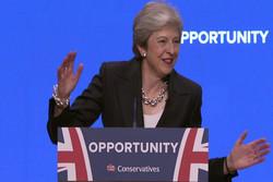 حرکات عجیب ترزا می در کنفرانس حزب محافظه کار
