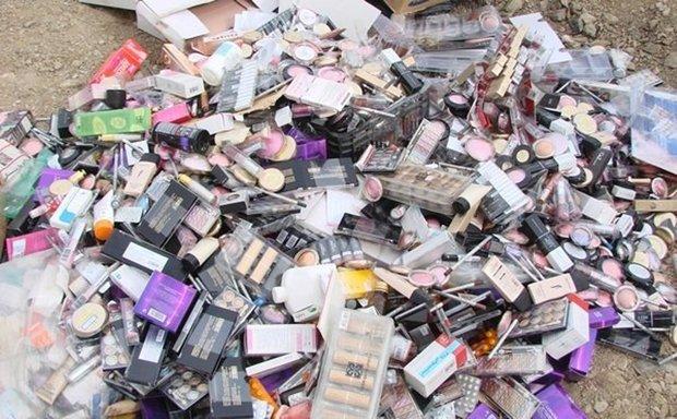 معدوم سازی بیش از ۱۴ هزار قلم انواع مواد آرایشی غیر مجاز