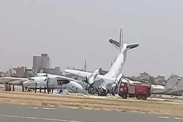 بسته شدن فرودگاه خارطوم به علت برخورد ۲ هواپیمای نظامی