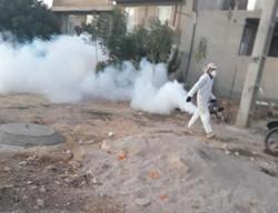 """انجام مرحله دوم """"مهپاشی"""" در مناطق زلزلهزده کرمانشاه"""