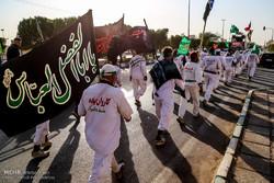 استقبال از کاروان پیاده انصارالحسین (ع) در اهواز