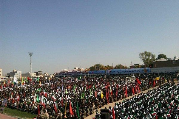اجتماع ۲۰ هزار نفری بسیجیان استان همدان