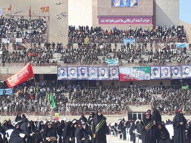 فلم/ صوبہ لرستان  میں رضاکار فورس کا تاریخی اجتماع