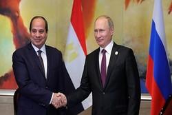 همکاری های نظامی و تحولات منطقه؛ محورهای دیدار پوتین و السیسی