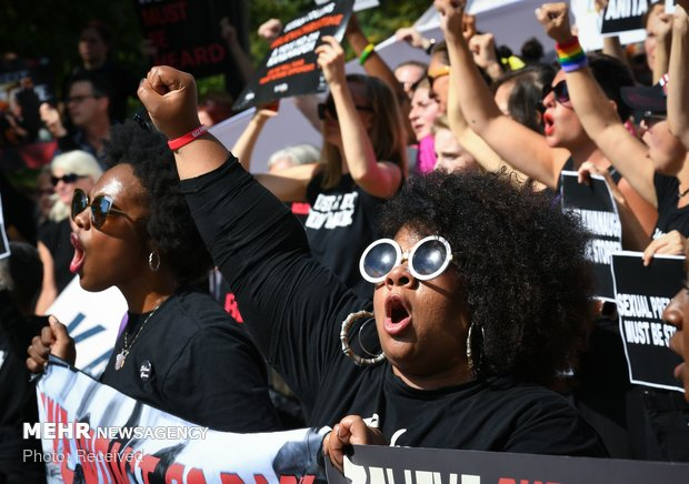 اعتراضات در آمریکا علیه عضویت کاوانا در دیوان عالی