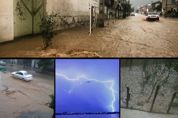 İran'ın kuzeyinde şiddetli yağış etkili oldu