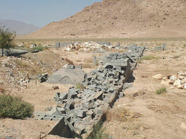 ۲۹۰۰ مترمربع زمین در پناهگاه حیات وحش موته از دست متصرفان آزاد شد