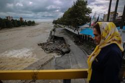تنکابن کے گاؤں سلیمان آباد میں سیلاب سے تباہی