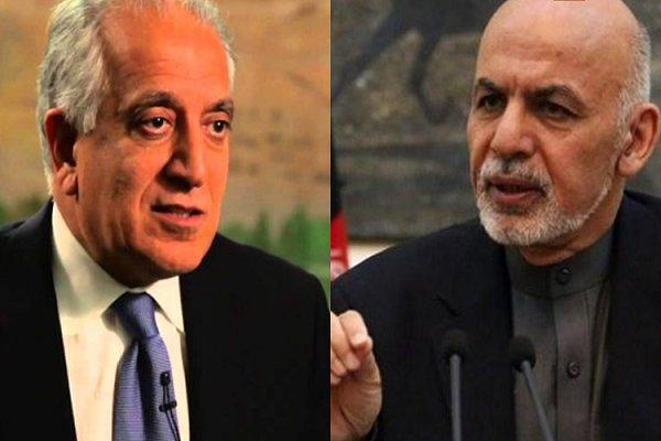 خلیل زاد کی کابل میں افغان صدر اشرف غنی اور چیف ایگزیکٹو عبداللہ عبداللہ سے ملاقات