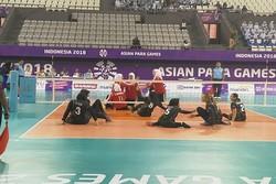 باخت تیم والیبال نشسته بانوان برابر چین