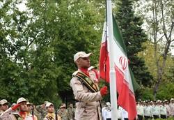 صبحگاه مشترک نیروهای مسلح شهرستان مرزی آستارا به مناسبت هفته ناجا