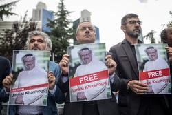 Türkiye'de Suudi Büyükelçiliği önünde büyük gösteri