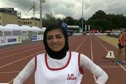 صفرزاده در دوی ۲۰۰ متر بانوان نقره گرفت
