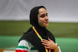 Iran's Javanmardi earns her 2nd gold in shooting