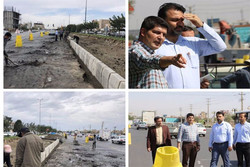 اجرای عملیات اصلاح هندسی ورودی شهر گلستان در محله «سبزدشت»