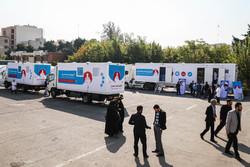 ارسال حافلات الاغاثة إلى المناطق المحرومة/مصور