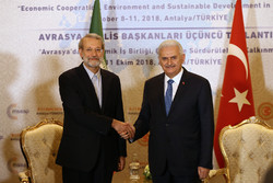 Larijani meets with Turkey's Yildirim, Pakistan's Mandviwalla