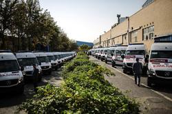 راهاندازی ۲۲ دستگاه آمبولانس جدید در مرکز فوریتهای پزشکی همدان