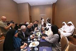 ایرانی اسپیکر سے قطری پارلیمنٹ کے اسپیکر کی ملاقات