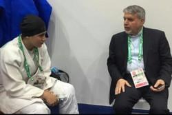 شاهد كيف مُنعت لاعبة الجودو الايرانية من التنافس بسبب الحجاب