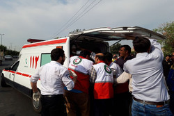۱۶ مصدوم بر اثر واژگونی مینی بوس دانش آموزان در لالی