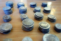 Millennia-old coins excavated in western Iran