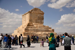 People visit tomb of Cyrus the Great in Pasargadae, southern Iran.