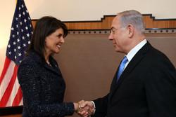 قدردانی نتانیاهو از زحمات هیلی برای تل آویو در سازمان ملل