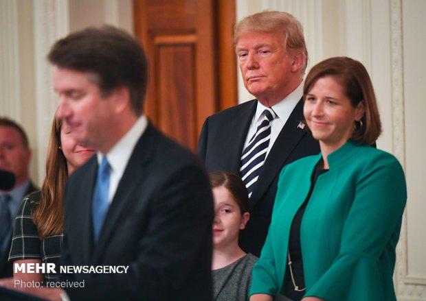 مراسم تحلیف کاوانا در کاخ سفید