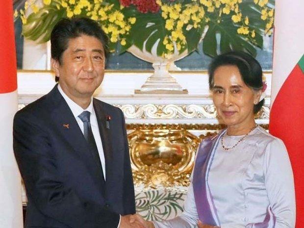 جاپانی وزیراعظم سے میانمار کی رہنما سوچی کی ملاقات