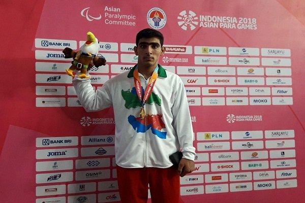 گزارش خبرنگار مهر از اندونزی؛ عارف بهاروند مدال طلای پرتاب وزنه را برگردن آویخت