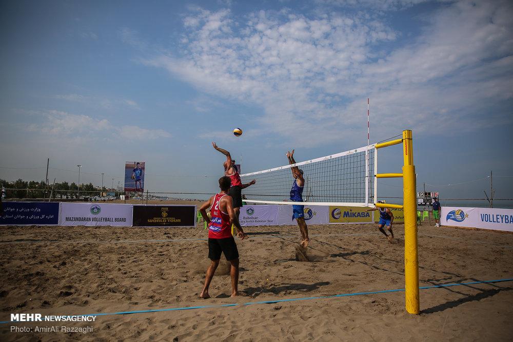 مسابقات تور جهانی تک ستاره والیبال ساحلی در مازندران