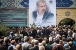Funeral of Iran's football commentator Bahram Shafi