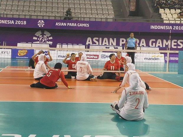 تیم ملی بانوان والیبال نشسته ایران نایب قهرمان شد