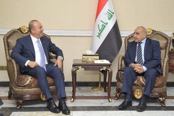 ترک وزیر خارجہ کی عراقی وزير اعظم سے ملاقات