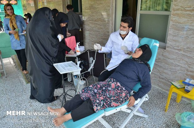 ارائه خدمات پزشکی رایگان درمنطقه محروم بلیران