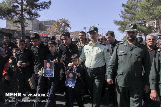 تشییع شهید مدافع وطن ستوان دوم علی غلامی