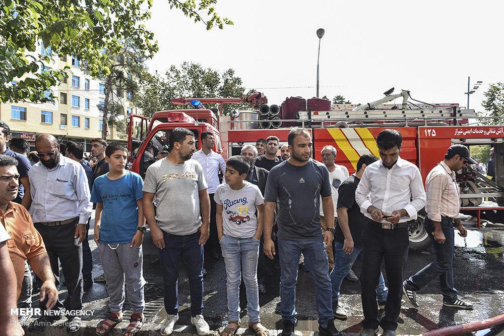 حریق در کارگاه تولید تزئینات خودرو در شیراز