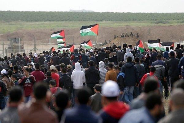زخمی شدن شماری از فلسطینیان در تظاهرات بزرگ بازگشت در غزه