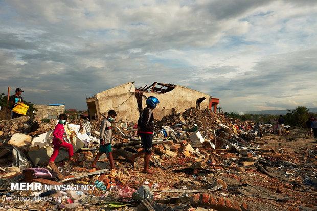 بازماندگان زلزله اندونزی