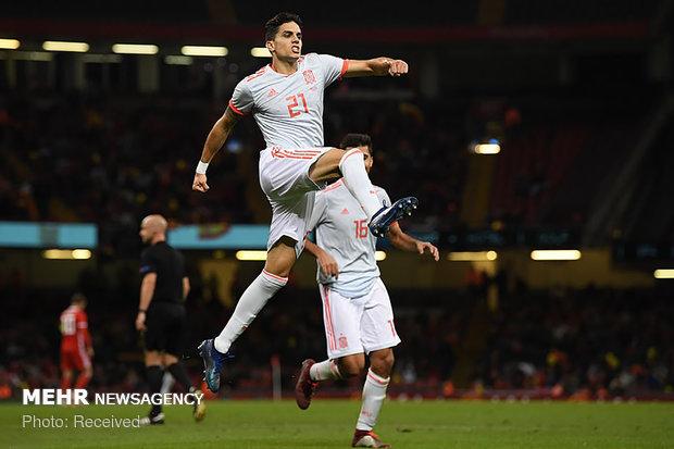 دیدار تیم های ملی ولز و اسپانیا