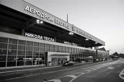 An exterior view of the Belgrade Nikola Tesla Airport
