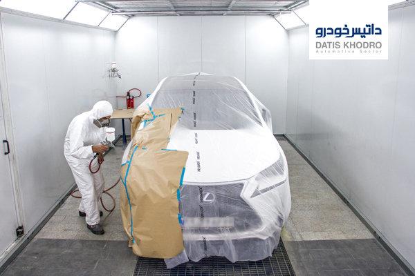 نقاشی حرفهای جهت تعمیر خودروهای ولوو