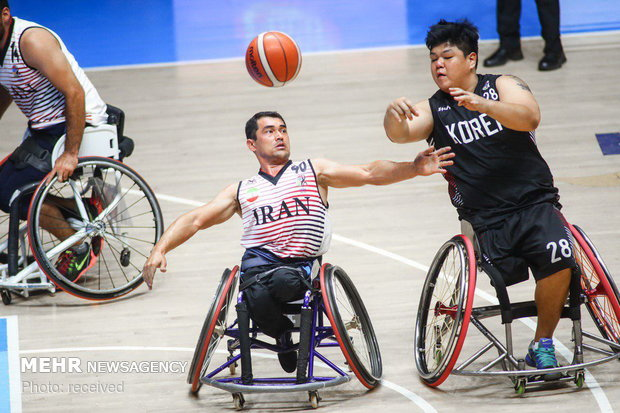PHOTO: Wheelchair basketball; Iran vs Japan