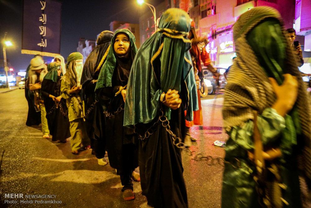 اہواز میں حضرت رقیہ کی شہادت کی مناسبت سے تعزیہ خوانی