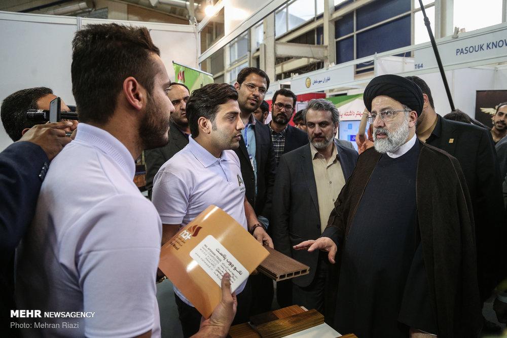 حجۃ الاسلام رئیسی کا علم محور کمپنیوں کی نمائشگاہ کا دورہ