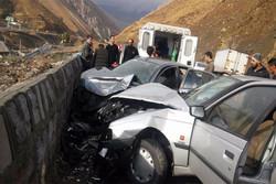تصادف در محور هراز/ ۴ نفر مصدوم شدند